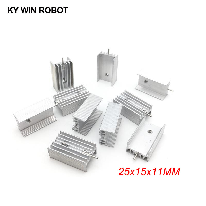 50pcs Aluminium TO-220 Heatsink TO 220 Heat Sink Transistor Radiator TO220 Cooler Cooling 25*15*11MM With 1 Pin