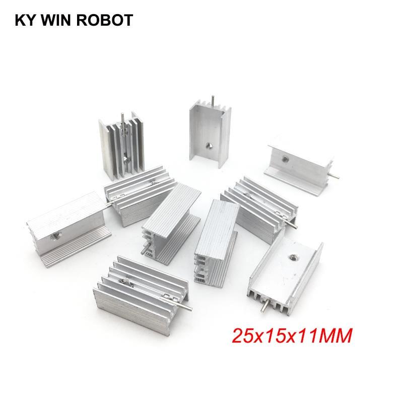50pcs Aluminium TO-220 Heatsink TO 220 Heat Sink Transistor Radiator TO220 Cooler Cooling 25*15*11MM With 1 Pin