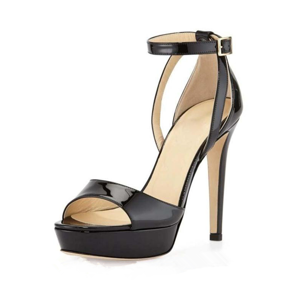Aidocrystal New Ankle Strap Summer Shoes Woman High-heeled Sandals Fashion Women Sandals Black Pumps Sandals Big Size aidocrystal woman ankle strap high heel sandals new arrival hot sale fashion office summer women casual women shoes