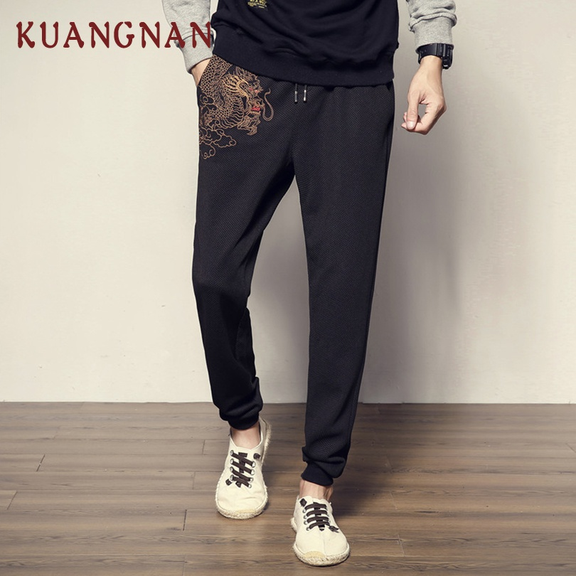 Men's Clothing Zongke Chinese Streetwear Cotton Linen Casual Pants Men Trousers Men Pants Jogger Hip Hop Sweatpants Harem Pants Men 4xl 2019