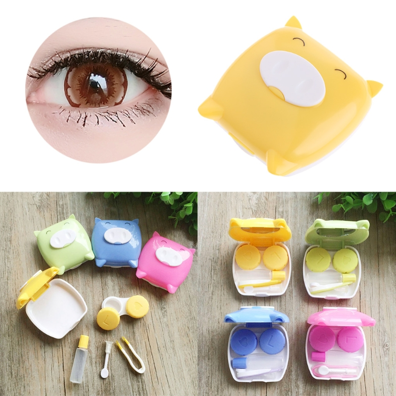 Provided Free Delivery Easy Carry 1pcs Travel Glasses Contact Lenses Box Contact Lens Case For Eyes Care Kit Holder Container Gift Lovely Luster Eyewear Accessories