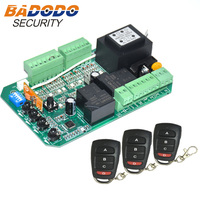 AC230V 120V Sliding gate opener motor control unit PCB controller circuit board electronic card plate remote control optional