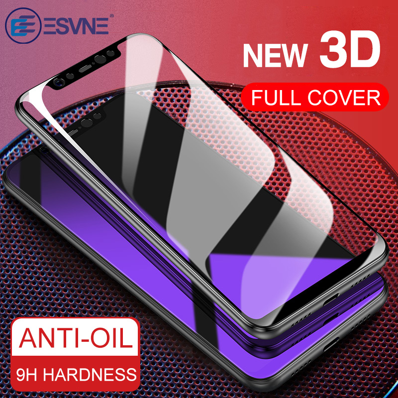 ESVNE Protective Glass For Xiaomi mi a1 a2 Lite mi8 8 se mi6 Screen Protector For Redmi 6 pro tempered glass Film 3D Full Cover(China)