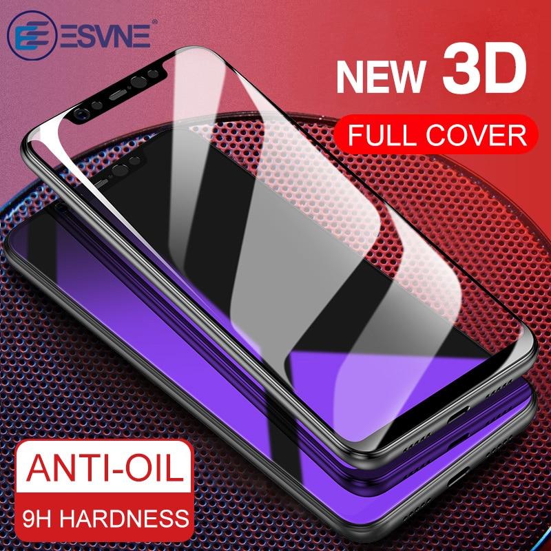 ESVNE Protective Glass For Xiaomi mi a1 a2 Lite mi8 8 se mi6 Screen Protector For Redmi 6 pro tempered glass Film 3D Full Cover(China)