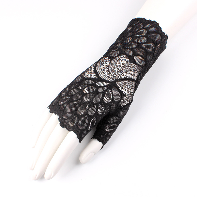 Spring Fashion Chic Short Openwork Sexy Lace Glovess