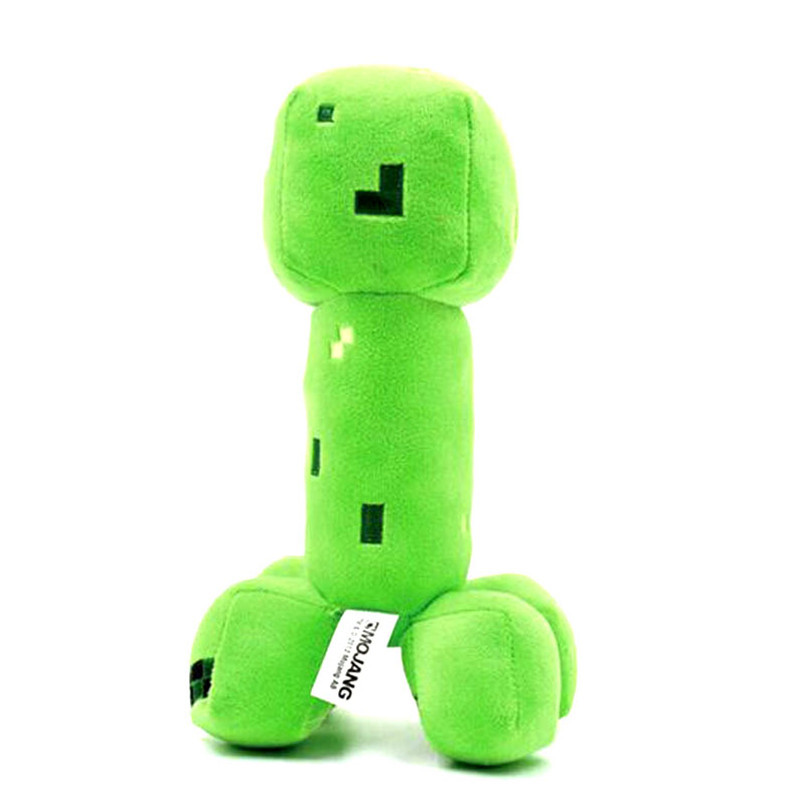 19cm Green Minecraft Creeper Plush Toys Minecraft Cooly Creeper JJ Stuffed Plush Dolls Toys Brinquedos Popular Gifts for Kids