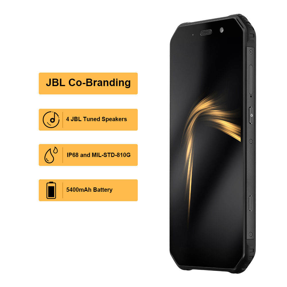 "OFFICIAL AGM A9 JBL Co-Branding 5.99"" FHD+ 4G+32G Android 8.1 Rugged Phone 5400mAh IP68 Waterproof Smartphone Quad-Box Speakers 2"