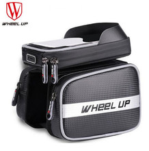 Wheel Up Bicycle Frame Front Tube Waterproof Bag Bike 6.2 Inches Touchscreen Phone Holder Accessories