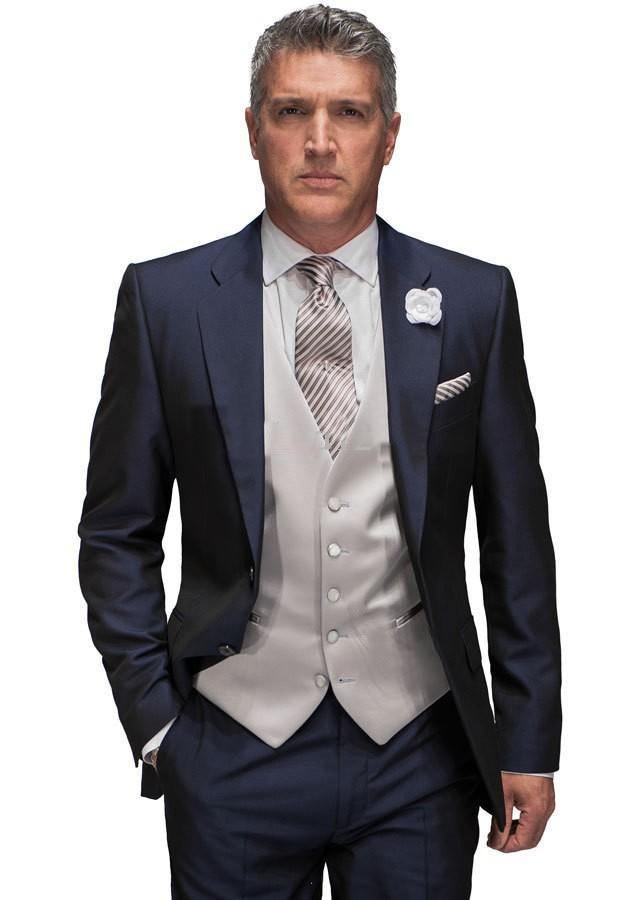 Free shipping/custom made New Design man Groom Tuxedos Dark navy ...