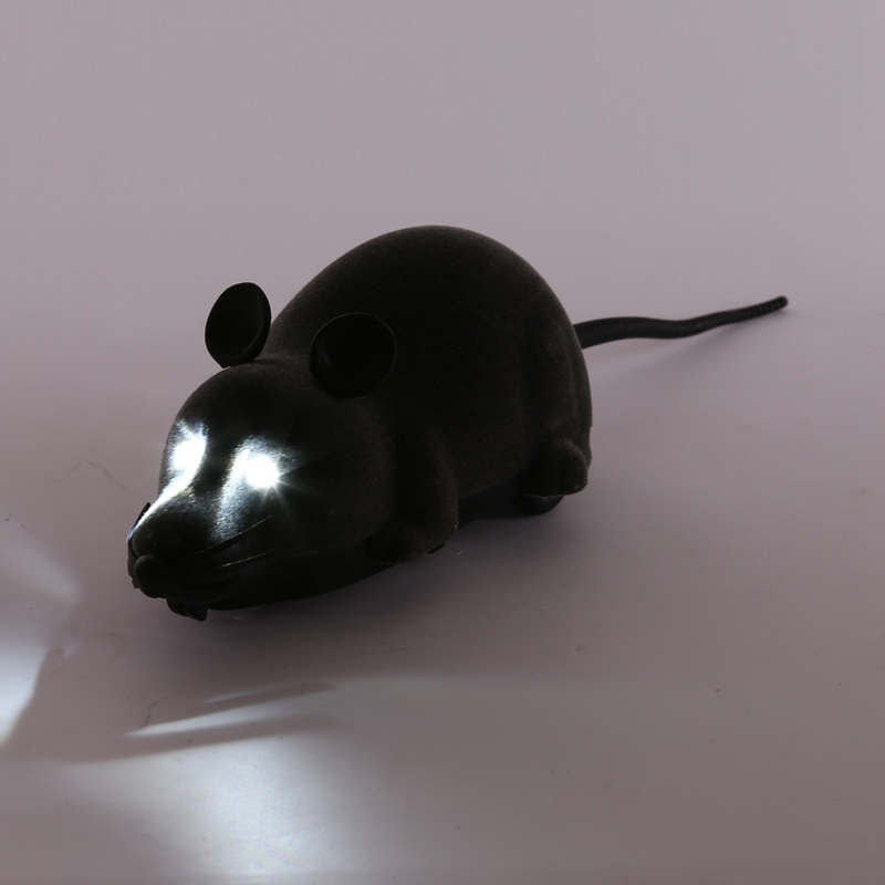 Pet Cats Toys Novelty Mice Rat Toy Mice  Wireless Electronic Remote Control Mouse With Flash Electric Simulation Toy For A Cat
