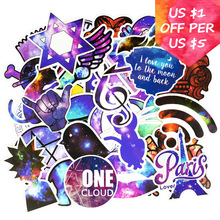 50Pcs Galaxy Stickers For Motorcycle Skateboard Snowboard Laptop Phone Suitcase Car Accessories Milky Way Mixed
