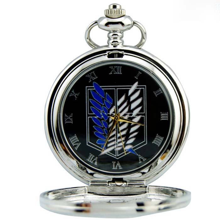 Attack On Titan Scouting Legion Survey Corps Pocket Watch Unsiex Japanese Anime Cartoon Cosplay Hollow Out Necklace Watch Gift Gift Gift Baptismwatch Bob Aliexpress