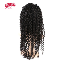 Ali Queen Hair Products Deep Wave Virgin Brazilian Hair Natural Color 18~26 130% Density Full Lace Human Hair Wigs