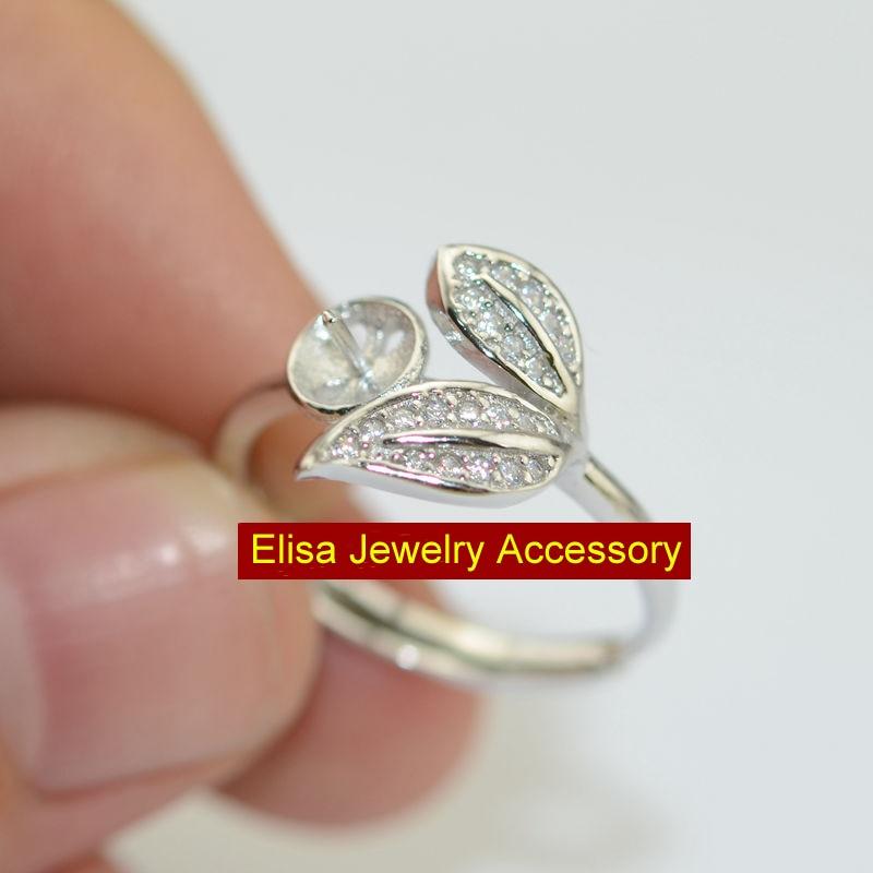 Fashion Cherry Ringen Bevindingen DIY Ringen Accessoire 925 Sterling Zilver Cherry Ontwerp Parel Ringen Sieraden Componenten-in Sieraden bevindingen & Componenten van Sieraden & accessoires op  Groep 1