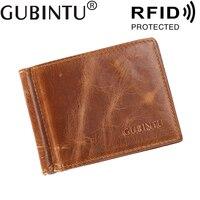 Для мужчин кошелек RFID с наличные держатель зажим для купюр держатель для карт и я зажим для денег металлический мужской пояса из натурально...