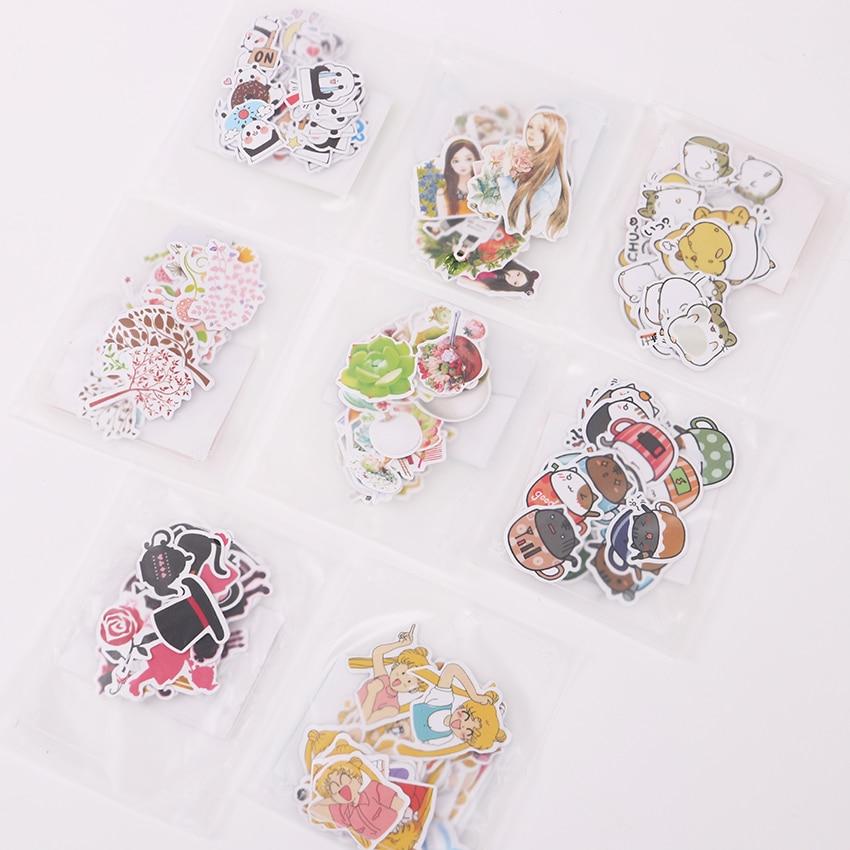 3 Sets DIY Cute Kawaii Cat Paper Sticker Panda Stickers for Stationery Sticker Decoration Scrapbooking Diary Photo Album