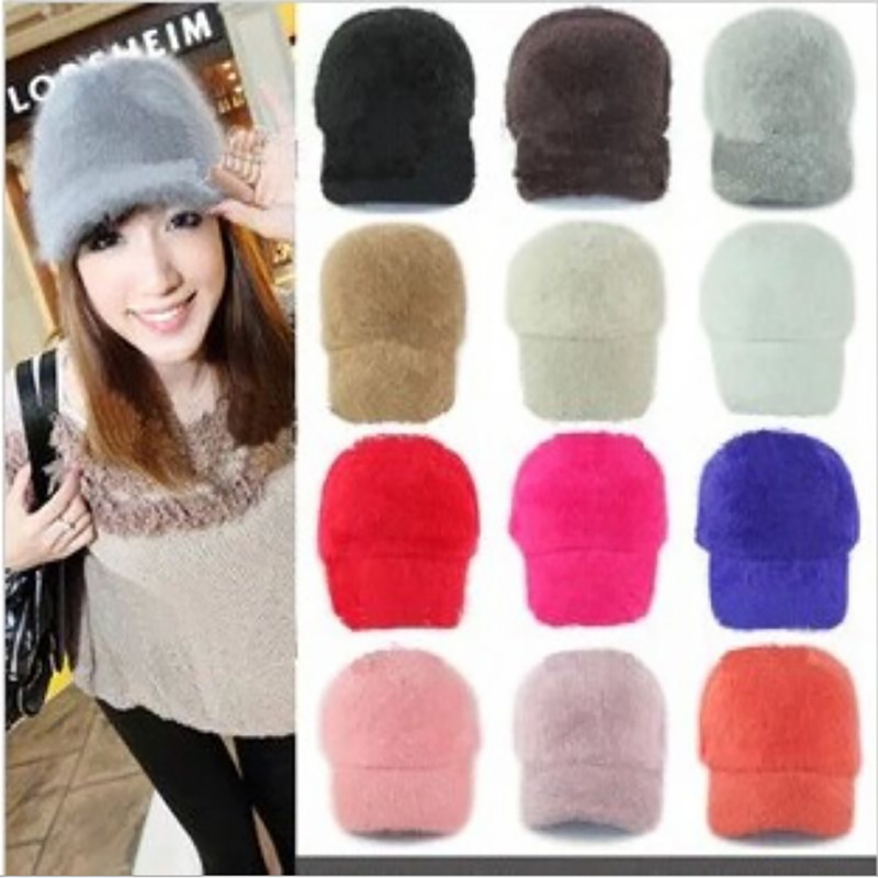 Free Shipping 2015 New Women Hat Winter Beanies Knitted Hats For Woman Rabbit Fur Cap Autumn And Winter Ladies Fashion Skullies