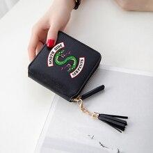 Ривердейл кошельки 3D печати кисточкой Кошелек Для женщин мини кошелек популярная, американская ТВ аксессуары короткие молнии карты сумки женские кошельки