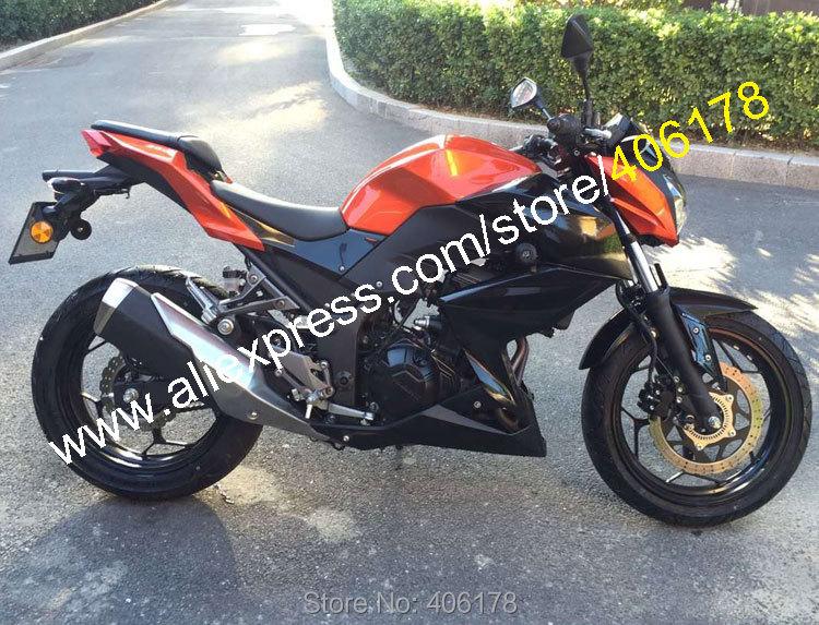 Hot Sales,For Kawasaki Z250 15-16 Z 250 Z300 2015-2016 Z 300 Orange Black  Bodyworks Motorbike Moto Fairing (Injection molding) hot sales for yamaha t max530 2015 2016 t max 530 tmax530 15 16 t max 530 white bodyworks motorbike fairing injection molding