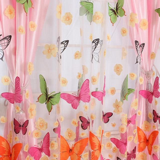 Neue Ankunft Romantische Schmetterling Vorhänge garn Tüll Vorhang ...