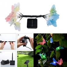 12pcs LED Butterfly Fiber Optic Fairy LED Outdoor Garden Lights Patio Fence Ornament light garden decoration
