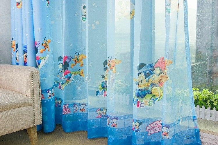 Awesome rideaux cologique pour enfants cartoon rideaux tulle voilages rideaux occultants bleu for Voilage enfant