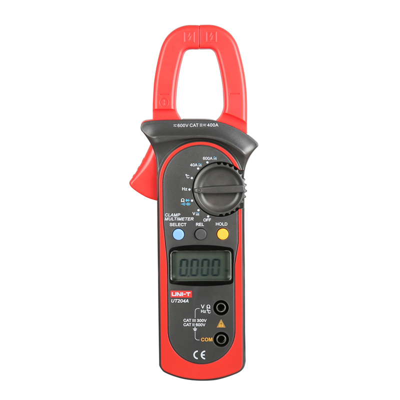 ФОТО UT204A DC/AC Voltage Current Digital Clamp Meter LCD Digital Auto Range Clamp Multimeter  Capacitance, Temperature Measurement