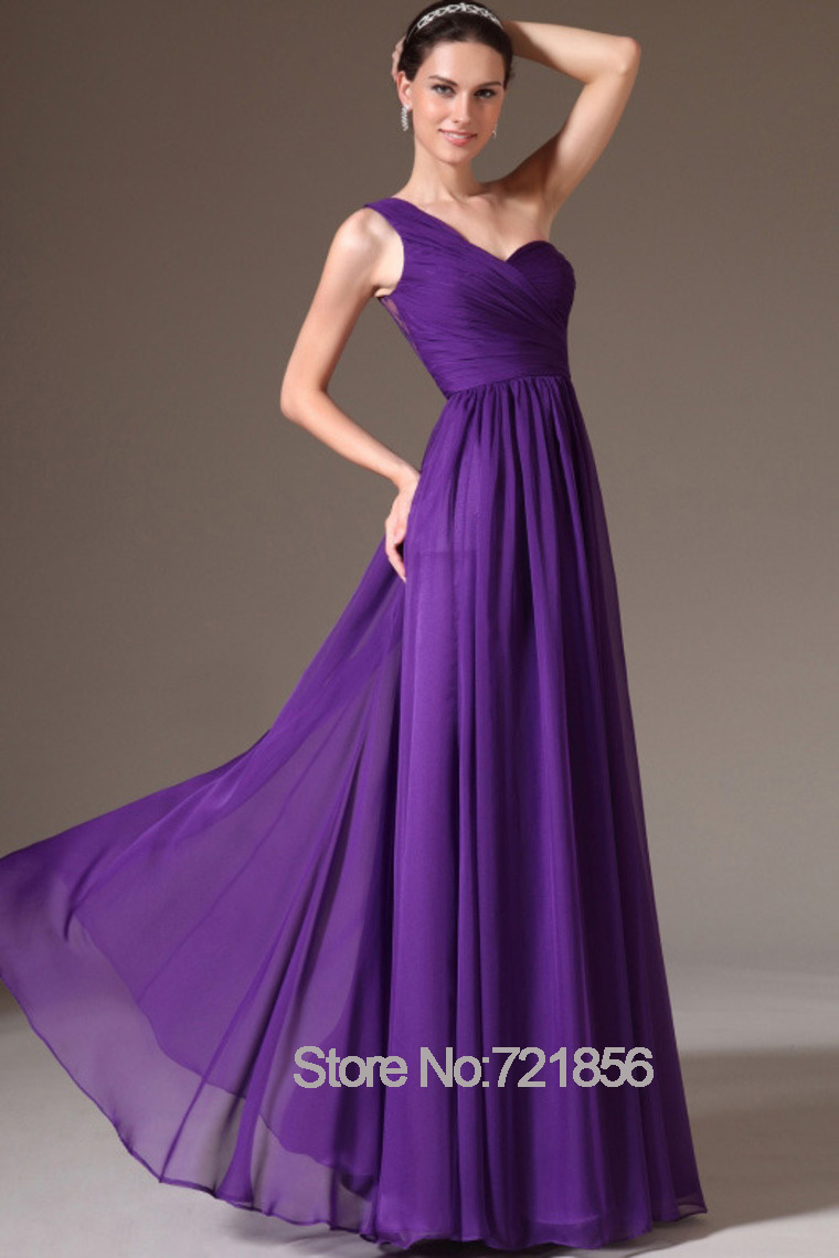 Purple bridesmaid dresses chiffon a line one shoulder scoop summer purple bridesmaid dresses chiffon a line one shoulder scoop summer style long maxi dresses for wedding custom made plus size in bridesmaid dresses from ombrellifo Images