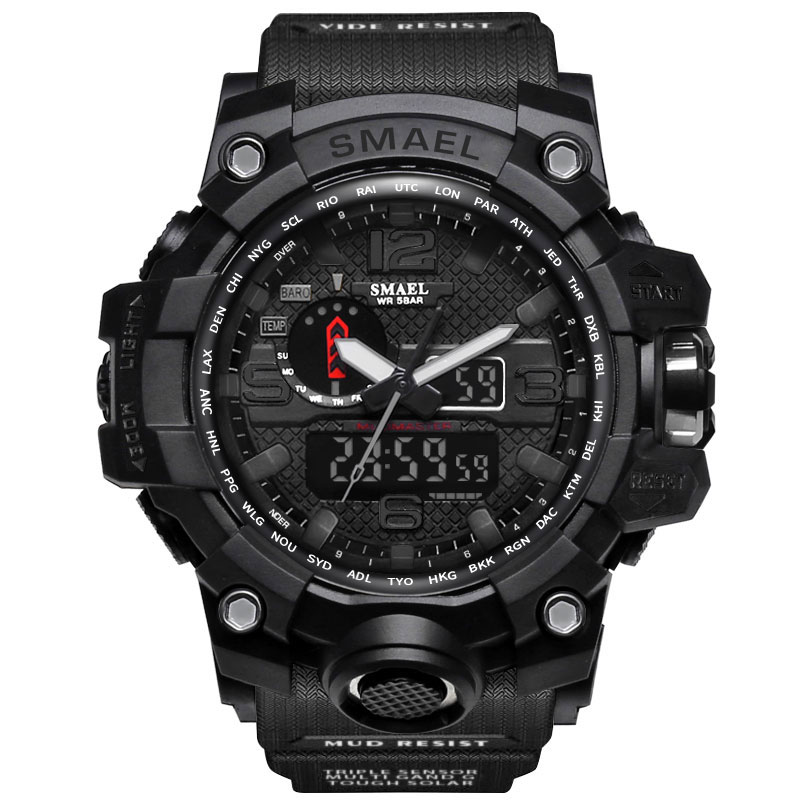 SMAEL Watches Men Digital Sport Watch Man Clock military 2017 luxury brand Black relogio masculino LED
