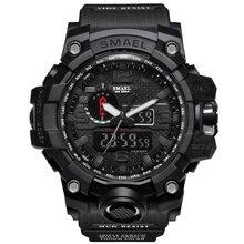 SMAEL Montres Hommes Numérique Sport Montre Homme Horloge militaire 2017 marque de luxe Noir relogio masculino LED numérique montre étanche