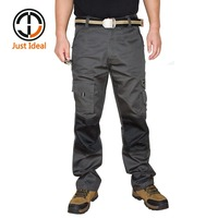 Mens Gents Work Trousers Grey Cargo Pants Casual Pant Multi Pocket Military Overall Long Trousers Plus Size 38 40 42 ID661