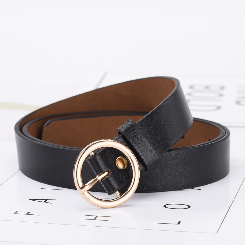 New Women Belt Female Metal Long Off White Belts Leather PU Waist Belt for Women Black Blue Brown Yellow Ladies Designer Belts