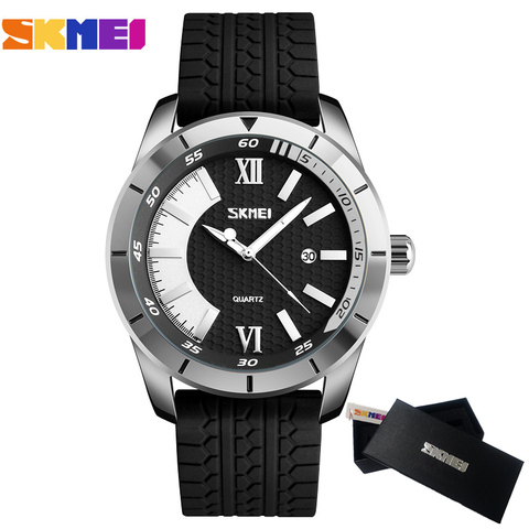 Mens Watches SKMEI Brand Luxury Casual Men Waterproof Quartz Sports Wristwatch Silicone Strap Male Clock watch relogio masculino Lahore