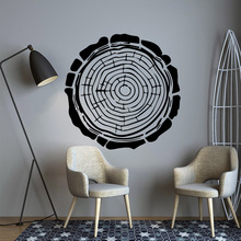 Drop Shipping Annual ring Removable Pvc Wall Stickers For Baby Kids Rooms Decor Decoration Accessories