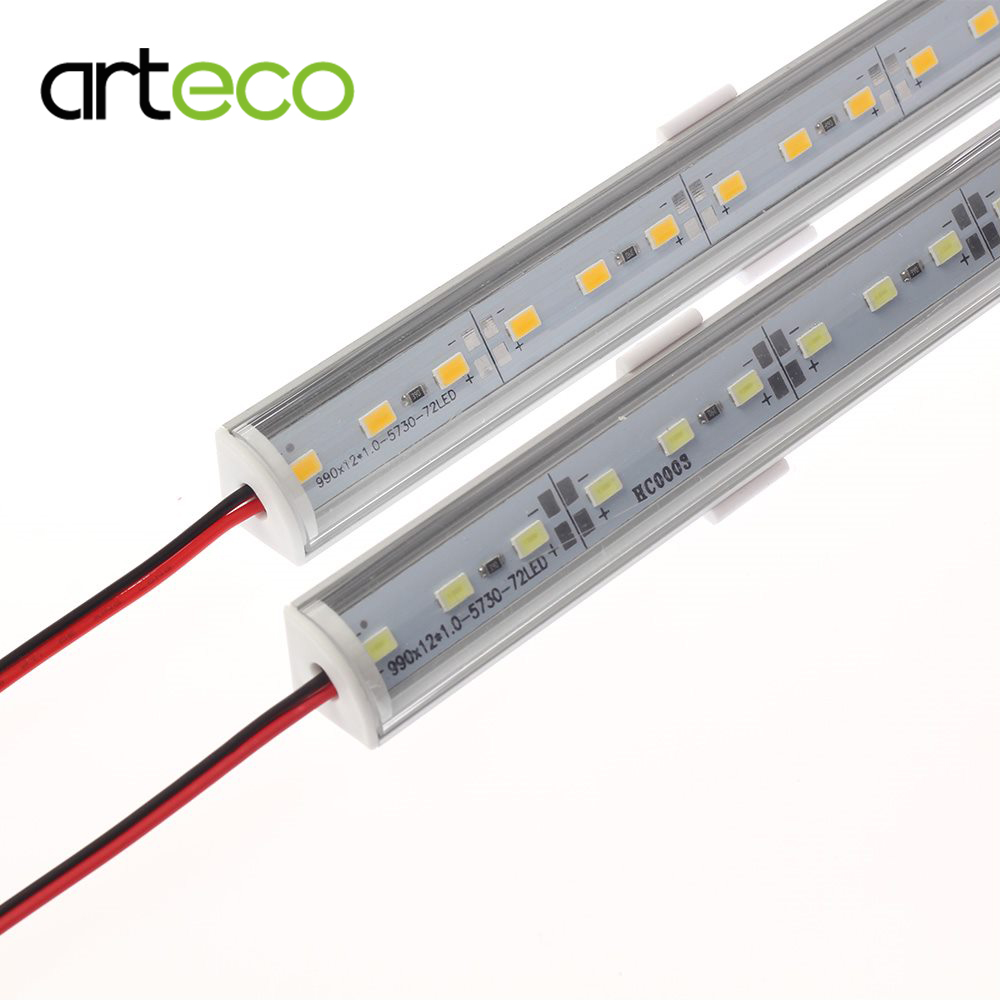 10PCS DC12V 50cm Wall corner LED Bar Light 5730 <font><b>L</b></font> Shape Aluminum <font><b>Profile</b></font> 5730 LED hard strip Light Kitchen Cabinet light