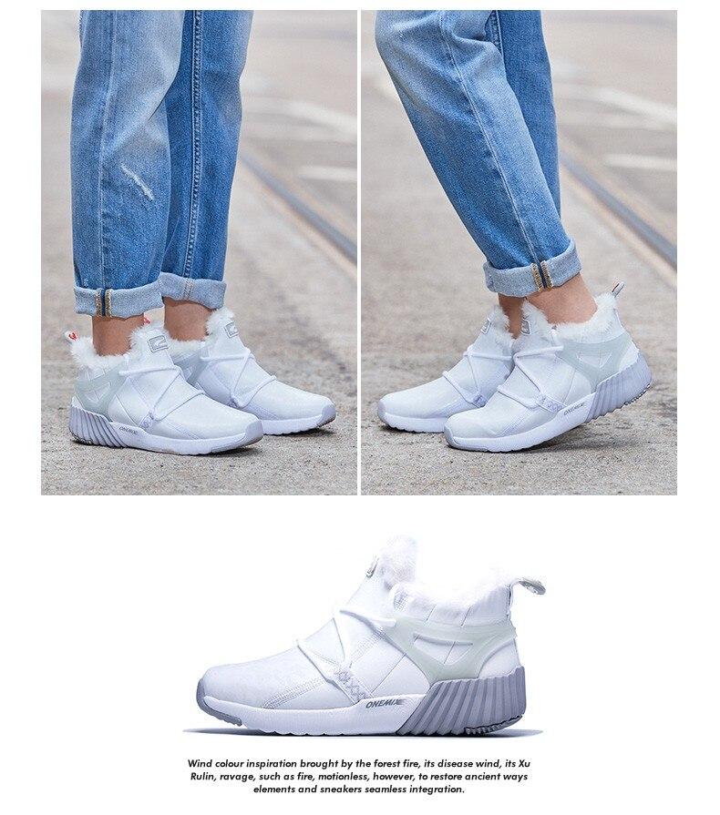 onemix New Waterproof Snow Boots Women Sneaker Men Trainers Walking Outdoor Athletic Comfortable Warm Wool Running Shoes Hotsell 14