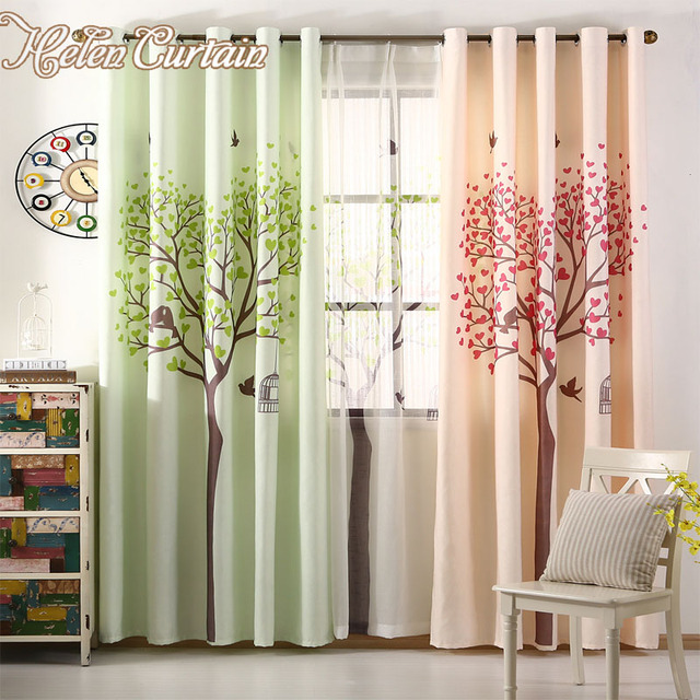 Helen Curtain 3 D Printed Modern Blackout Three Curtains For Living Room Tulle