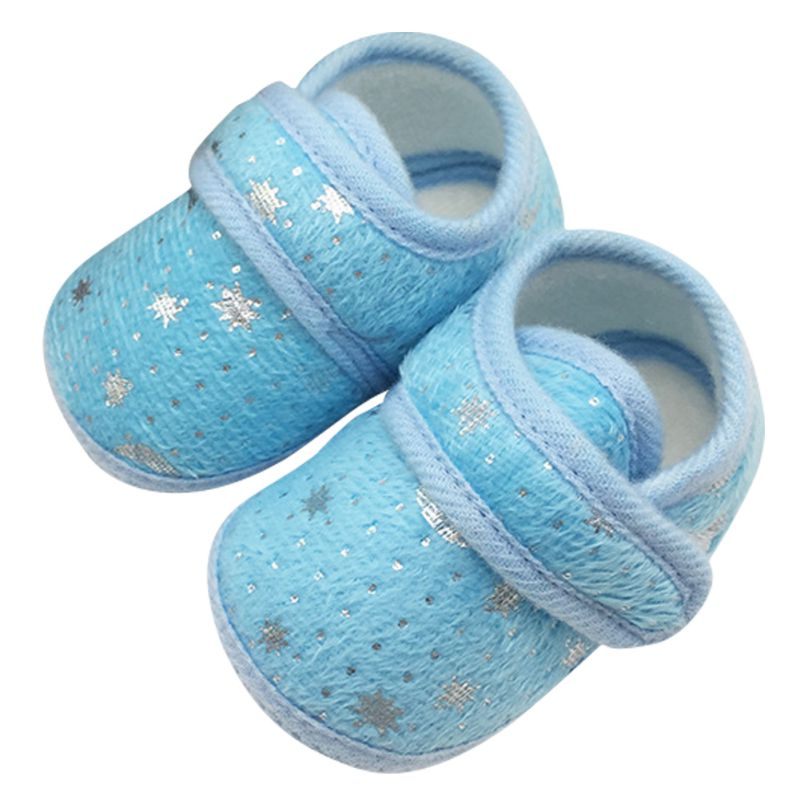 Cute Infants Bay Boys Girls Shoes Cotton Crib Shoes Star Print Prewalker
