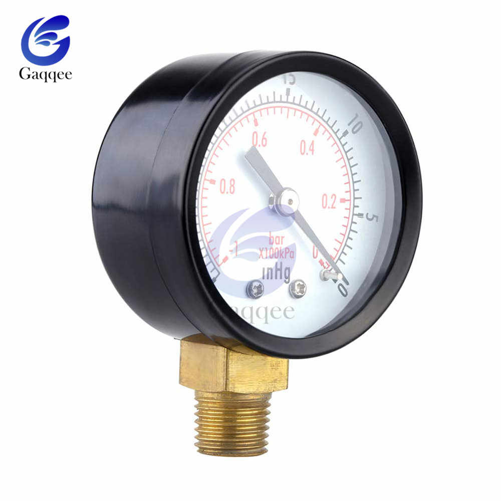 """Przenośny czujnik zegarowy Dual Scale 1/4 """"NPT-30HG/0 PS miernik ciśnienia manometr próżniowy 2"""" wyświetlacz cyfrowy manometr"""