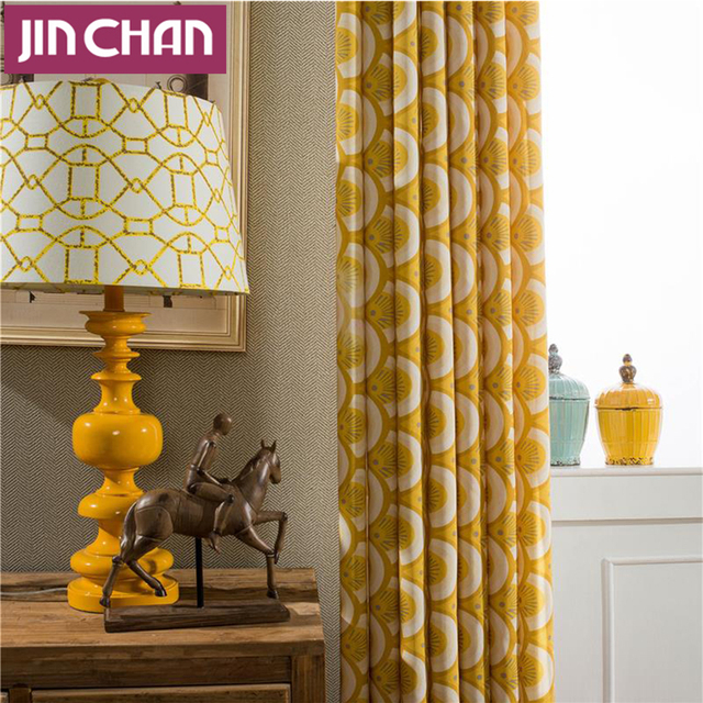 Endless Yellow Fabric Blackout Window Curtains Drapes Shades for ...