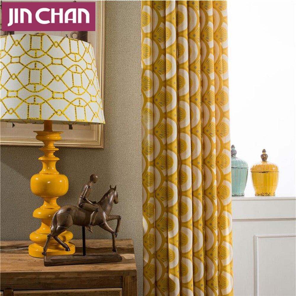 amarillo tela cortinas blackout cortinas cortinas para la sala de estar cocina dormitorio ojal