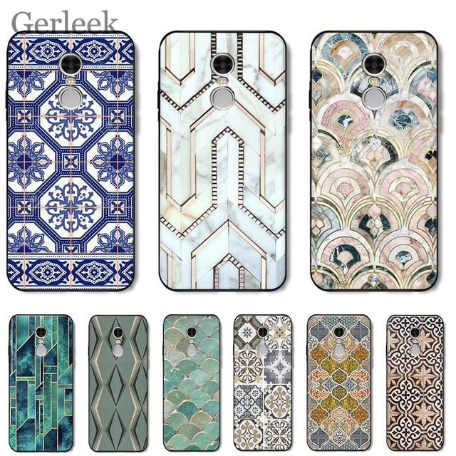 Trường Hợp điện thoại Morocco Nghệ Thuật Deco Gạch Bản Đồ Kim Cương Quy Mô Cho Redmi Lưu Ý 4 4A 4X5 5A 6 MỘT pro Cộng Với Thủ Bìa
