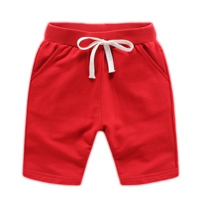 Boys' Plain Cotton Shorts with Drawstring