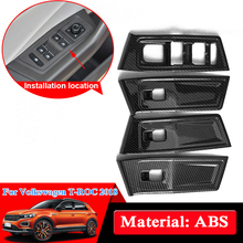 QCBXYYXH ABS Car Styling For Volkswagen T-ROC 2018 Interior Door Window Lift Switch Panel Cover Trim Decoration Car Accessories