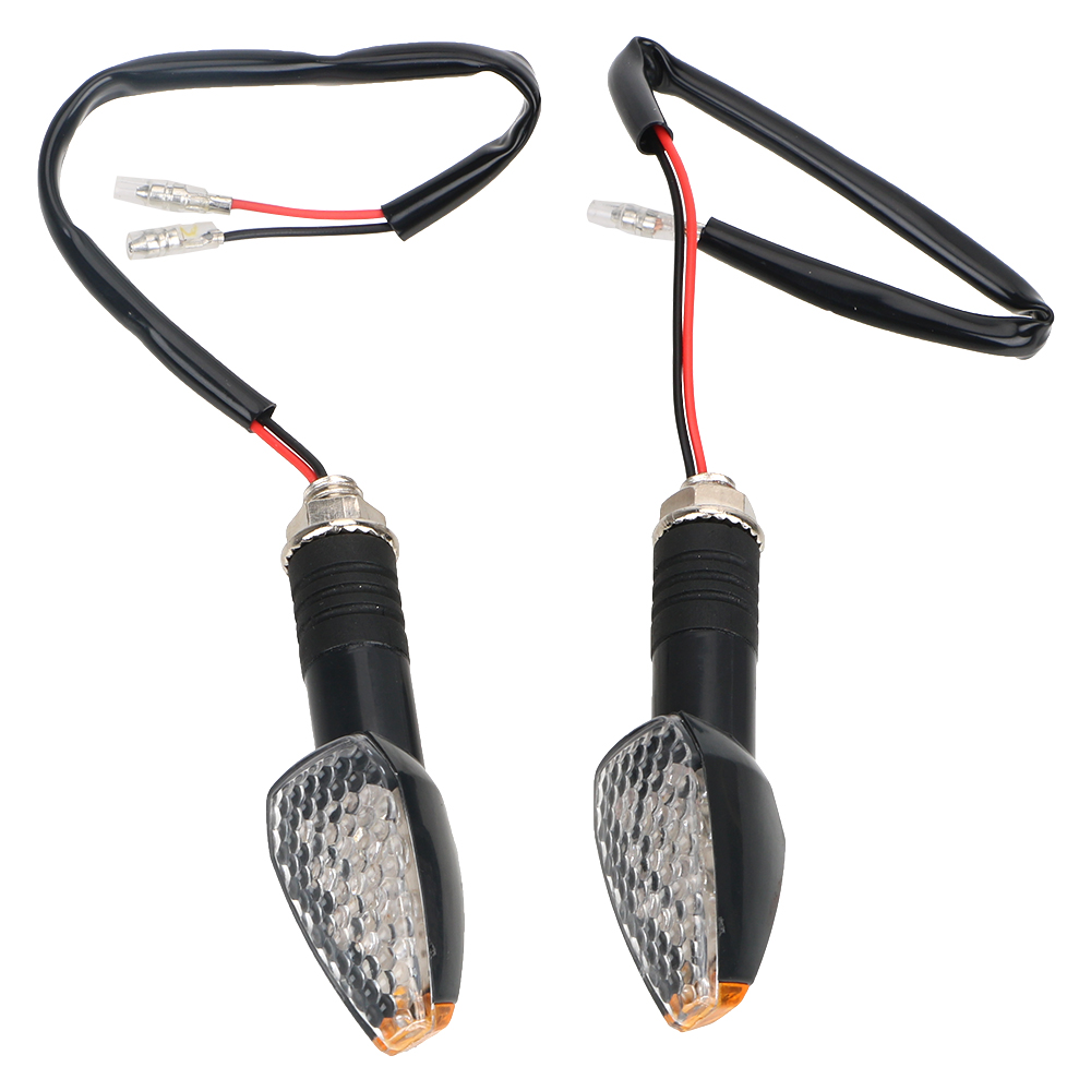 1 Pair Motorcycle Turn Signal Lights Signal Lamp Moto Tail Brake Lights 10 LED Amber Motorbike Indicator Blinker