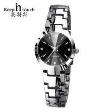 fc7ac3253bb MANTER EM CONTATO Relógio De Prata Das Mulheres 2017 Marca de Luxo relógio  de Quartzo Luminosa Pulseira Senhoras Relógio Relógio.