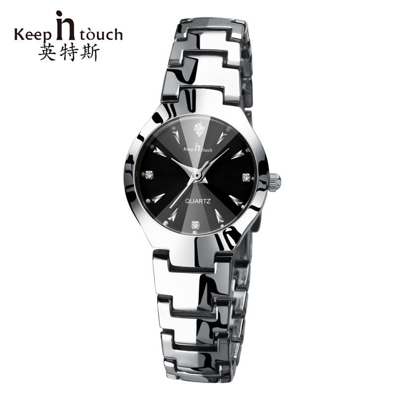 KEEP IN TOUCH Silver Watch Women Quartz 2017Luxury Brand Luminous Bracelet Ladies Watch Rhinestone Fashion Relogio Feminino keep in touch luxury women watches top brand quartz bracelet dress calendar rhinestone ladies watch luminous relogios feminino