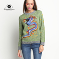 Runway Sweater Women 2017 Animal Embroidery Sweater Brand Luxury Sweaters Pullover