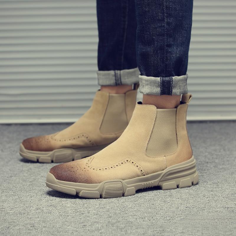 Grande Socks gray Socks Militaire 11 Désert Hiver Boots Chelsea De Taille Socks Bottes» Slip Armée Hommes Cheville Mode With Occasionnel Beige on Tactiques black 46 Bottes 4pZS1
