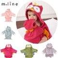 Moda diseños capucha Animal modelado bebé albornoz bebé de la historieta del carácter niños infantil toallas de playa